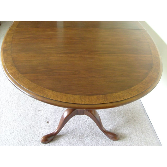 Image of Queen Anne Double Pedestal Dining Table by Baker