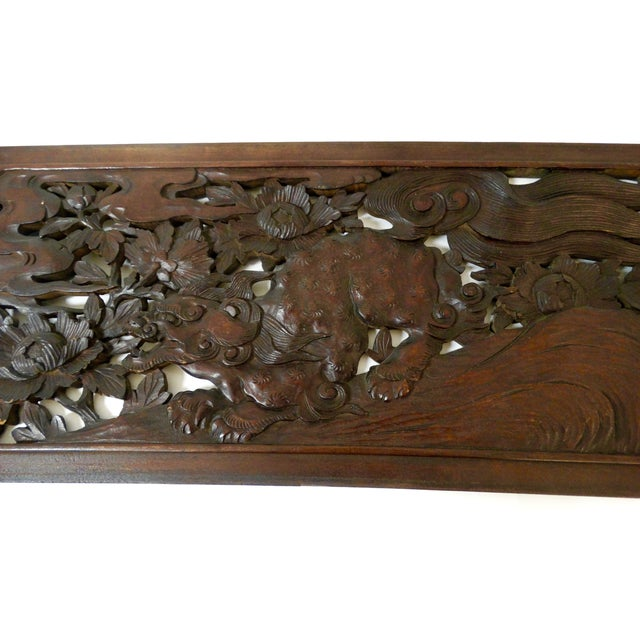 Chinese Carved Panel - Image 3 of 3