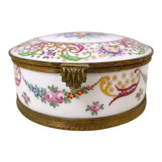 French Porcelain Jewelry Trinket Box