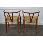 Image of Hans Wegner Carl Hansen & Son Danish Modern Wishbone Chairs- A Pair