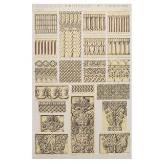 Persian Owen Jones Decorator Sheets C. 1856 - S/3