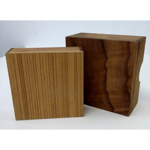 Handmade Sectioned Wood Box with Lid - Image 5 of 6