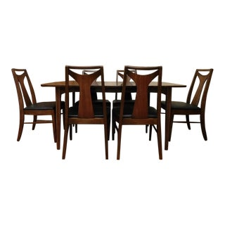 Mid-Century Modern Kent Coffey Perspecta Table & 6 Chairs
