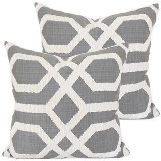 Boucle Trellis Accent Pillows - Pair