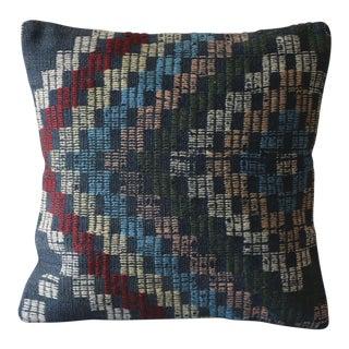 Vintage Kilim Boho Chic Wool Pillow Cover