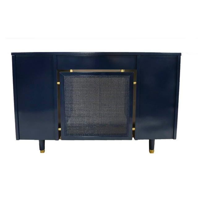 Navy Midcentury Desk - Image 4 of 7