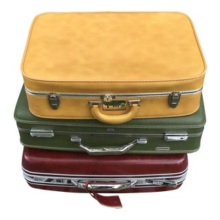 Vintage American Suitcases - Set of 3
