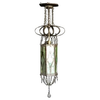 Iron and Glass Gothic Pendant Light