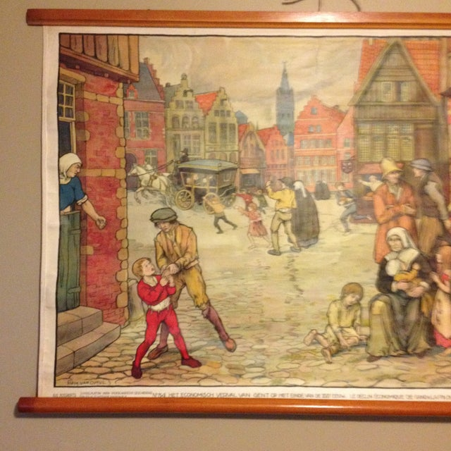 Vintage Belgian History School Chart Art - Image 3 of 10
