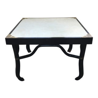 Ritts Company Black Lacquer Rattan End Table
