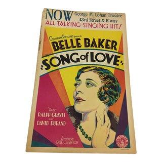 1929 Belle Baker Art Deco Movie Poster