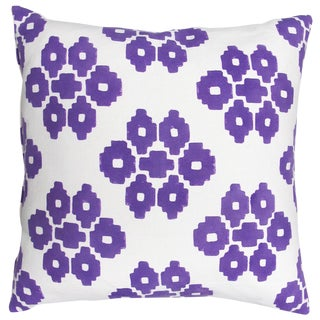 "John Robshaw Purple ""Buna"" Pillows- Pair"