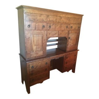 19th Century Primitive Birds Eye Maple Desk
