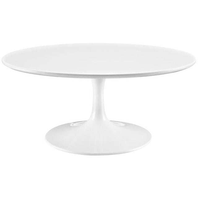 """New White Modern Round 36"""" Tulip Coffee Table - Image 1 of 3"""