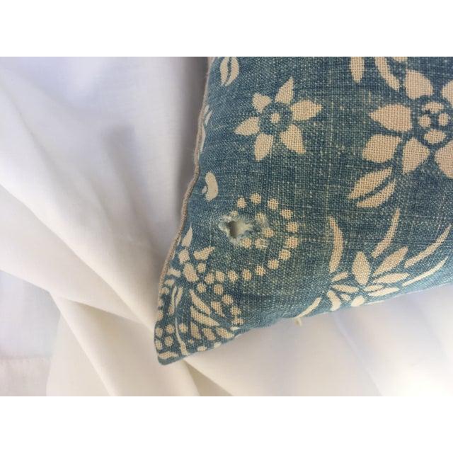Indigo Batik Bamboo & Butterfly Pillow - Image 4 of 6