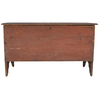 Original Red Painted Blanket Chest
