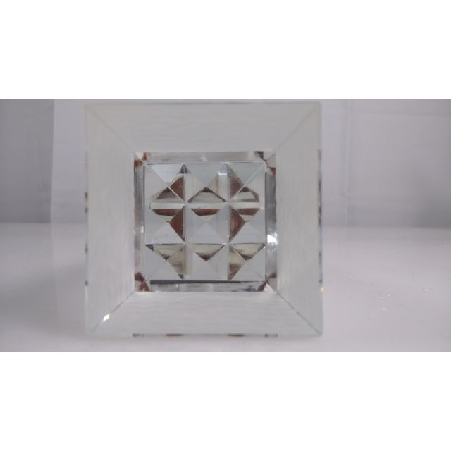 Beveled Crystal Glass Obelisk Paperweight - Image 5 of 5