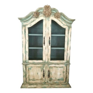 Antique Distressed Hutch Cabinet