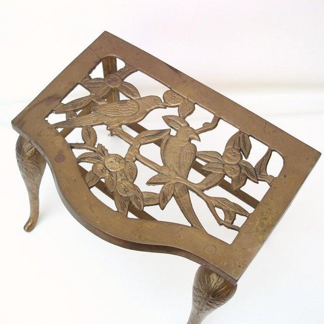 Fireplace Stool Hearth Trivet Brass Footman - Image 5 of 8
