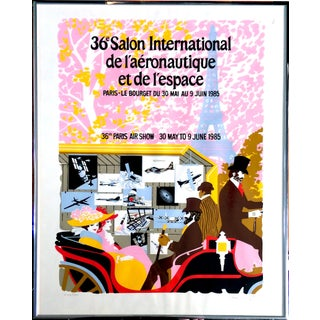 Paris Air Show Serigraph by Carl Critz