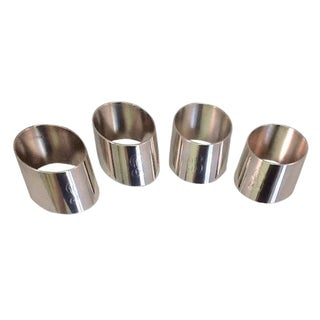 Vintage Silver Plate Engraved Napkin Rings - 4