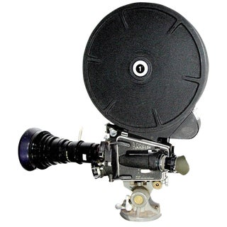 Arriflex Circa 1950 Model M Movie Camera With Rare 1200' Film Magazine. Complete and Accurate. Display As Sculpture.