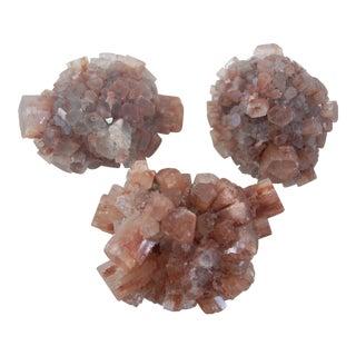 Natural Red Aragonite Crystals - Set of 3