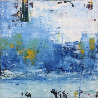 Paul Ashby Original Cobalt Blue Abstract Painting