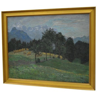 20th Century Impressionist Landscape Oil Painting