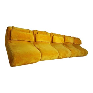 Carsons Furniture Mid-Century Modern 5-Piece Sectional Sofa