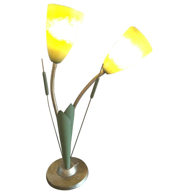 Vintage Cat O'Nine Tails Table Lamp - Image 1 of 6