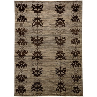 "Contemporary Hand-Knotted Rug- 6'10"" x 9'8"""