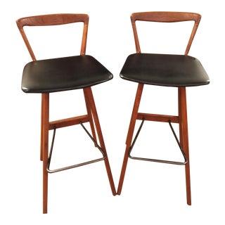 Rosengren Hansen Teak Bar Stools - A Pair