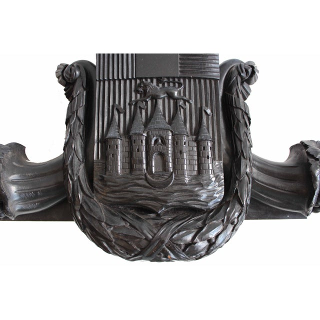 Image of Antique Coat of Arms Pediment