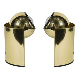 Pair of Mid-Century Brass Spot Lights in the Style of George Kovacs