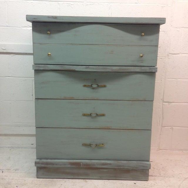 Image of 1950's Serpentine 4 Drawer Dresser