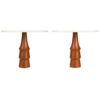 Pair of Petite Danish Table Lamps