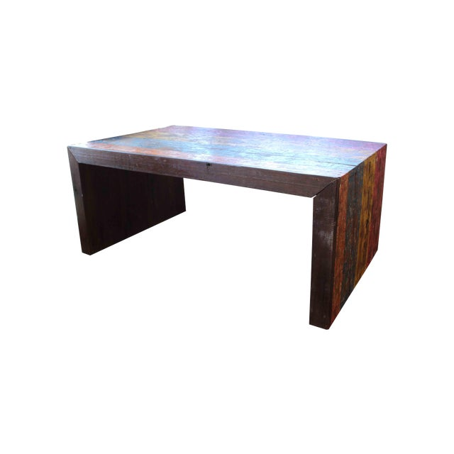 Recycled Wood Coffee Table - Image 1 of 4