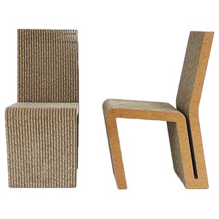 Frank Gehry Cardboard Side Chairs - A Pair