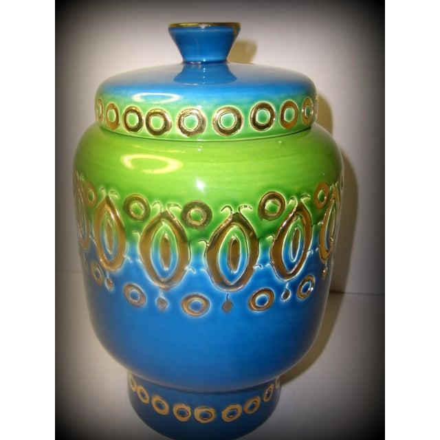 Mid Century Vase Art Pottery Bitossi Jar - Image 3 of 8