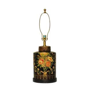 Frederick Cooper Vintage Floral Tea Caddy Canister Lamp