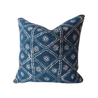 Hand-Blocked Indigo Pillow
