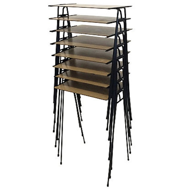 Stacking midcentury tv trays s chairish