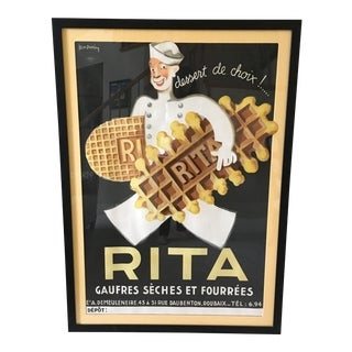 Leon Dupin Vintage Waffle Poster