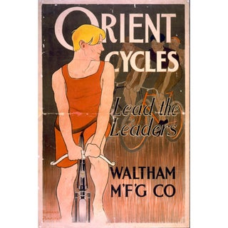 Print of Bicycle Poster From 1800s for Orient Cycles
