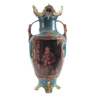 Antique Amphora Majolica Turn-Teplitz Urn