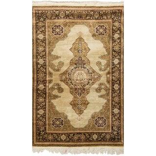 Antique Persian Silk Quom Rug - 3' X 5'
