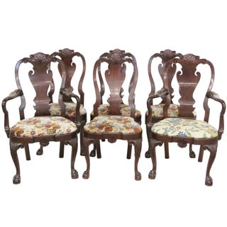 Kindel Chippendale Style Dining Chairs - Set of 6