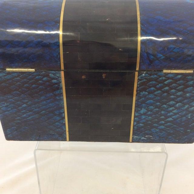 Maitland- Smith Lapis & Penshell Box - Image 7 of 11