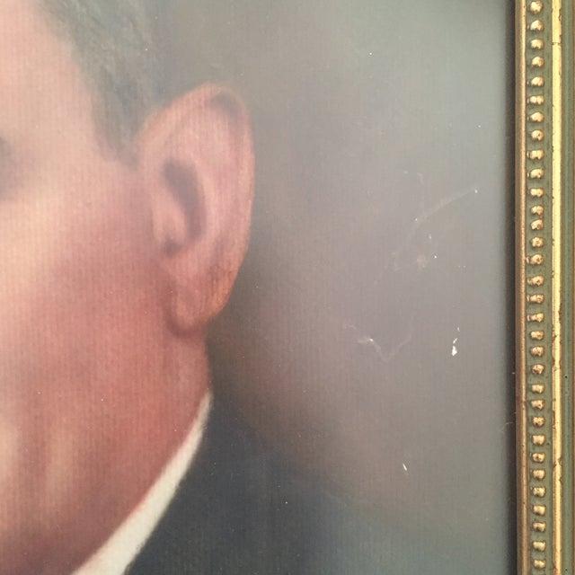Vintage Framed Portrait Painting of Business Man - Image 6 of 11
